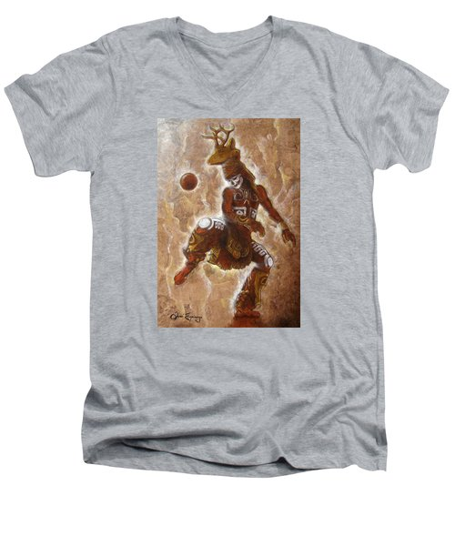 Ball Game Men's V-Neck T-Shirt by J- J- Espinoza