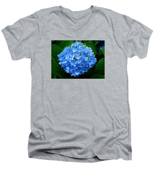 Men's V-Neck T-Shirt featuring the photograph Ball Of Blue by Michiale Schneider