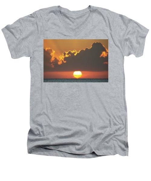 Ball Of Fire Men's V-Neck T-Shirt