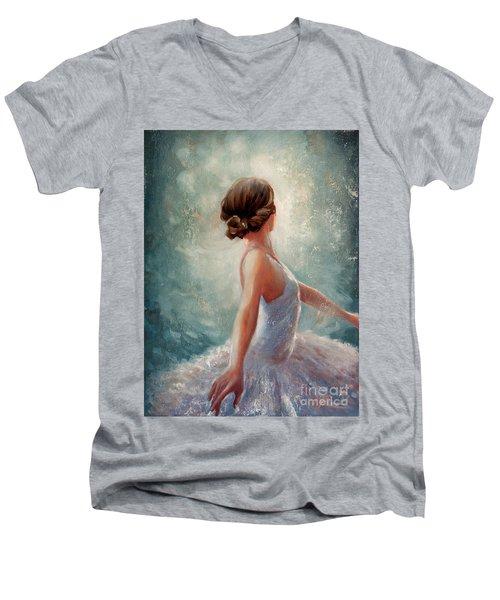 Ballerina Dazzle Men's V-Neck T-Shirt