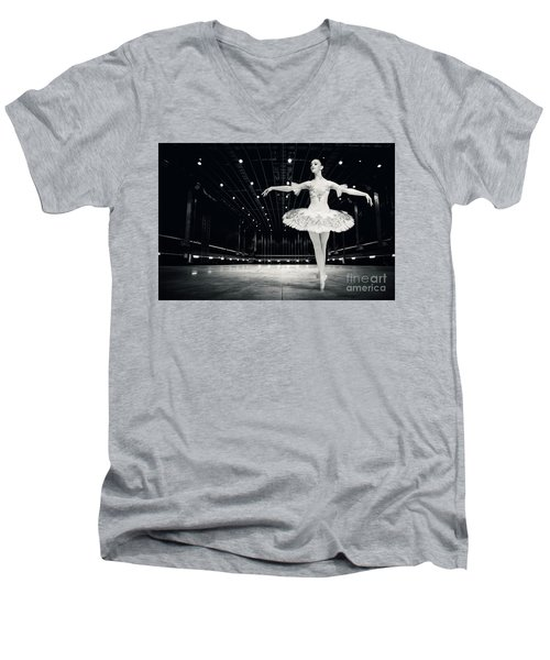 Men's V-Neck T-Shirt featuring the photograph Ballerina by Dimitar Hristov