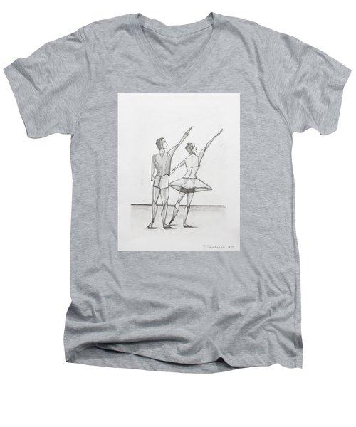 Ballet Men's V-Neck T-Shirt
