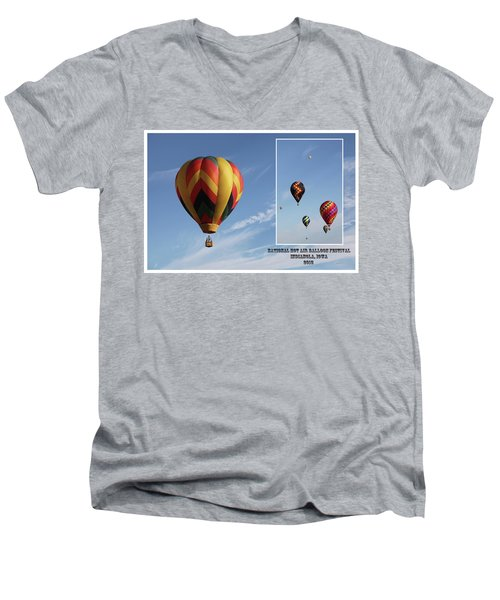 Balloon Festival Indianola, Iowa Men's V-Neck T-Shirt