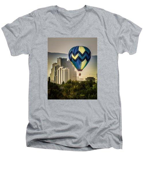 Balloon Over Reno Men's V-Neck T-Shirt