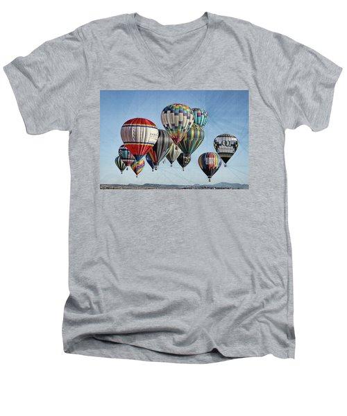 Ballooning Men's V-Neck T-Shirt