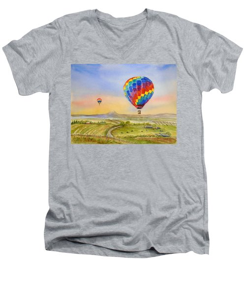 Balloons Over Mcminnville Men's V-Neck T-Shirt