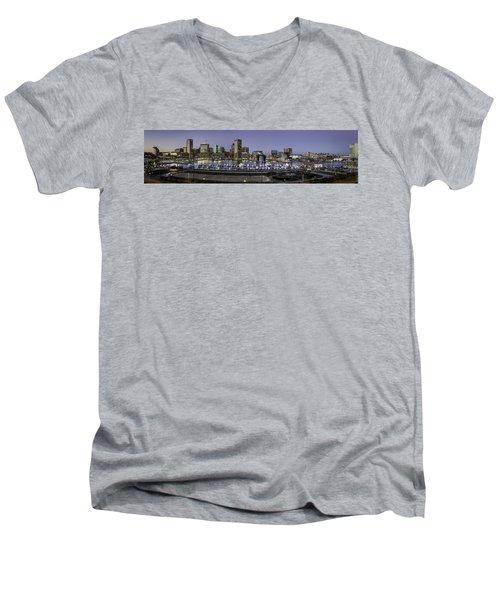 Baltimore Inner Men's V-Neck T-Shirt by Eduard Moldoveanu