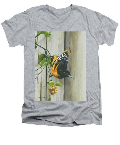 Baltimore Oriole Men's V-Neck T-Shirt