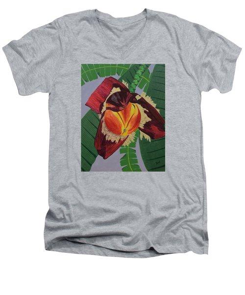 Banana Blossom Men's V-Neck T-Shirt