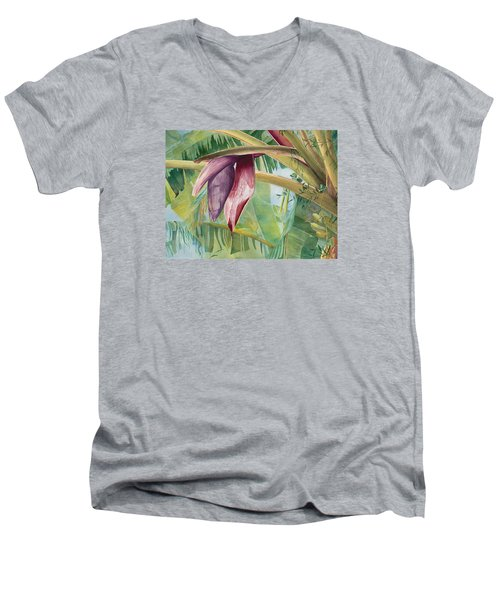 Banana Flower Men's V-Neck T-Shirt