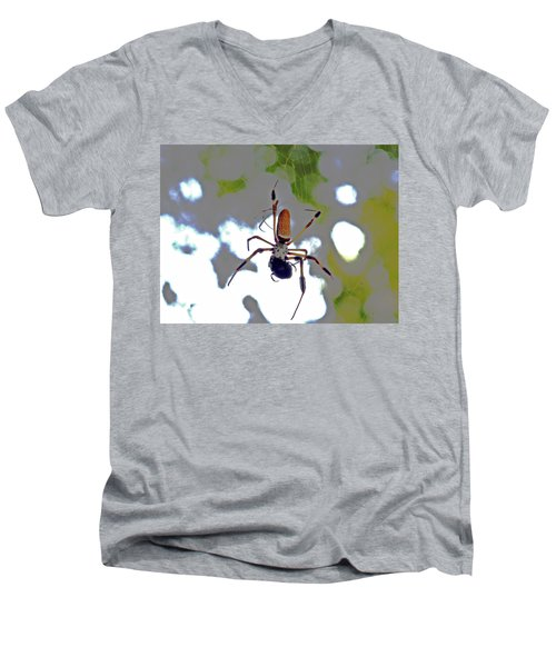 Banana Spider Lunch Time 1 Men's V-Neck T-Shirt