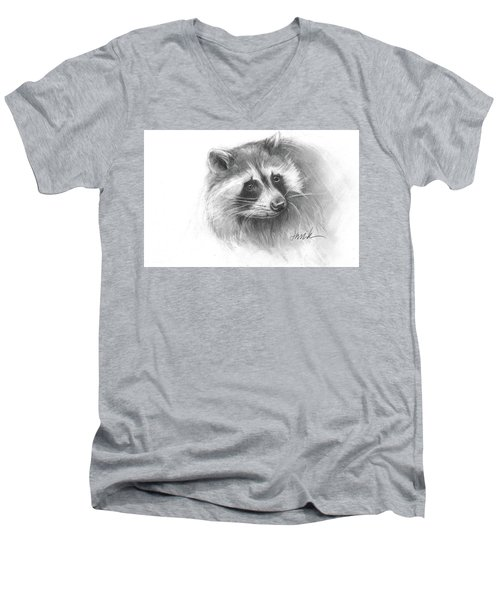 Bandit The Raccoon Men's V-Neck T-Shirt