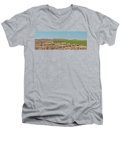 Badlands Panorama Men's V-Neck T-Shirt