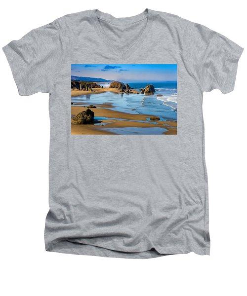 Bandon Beach Men's V-Neck T-Shirt