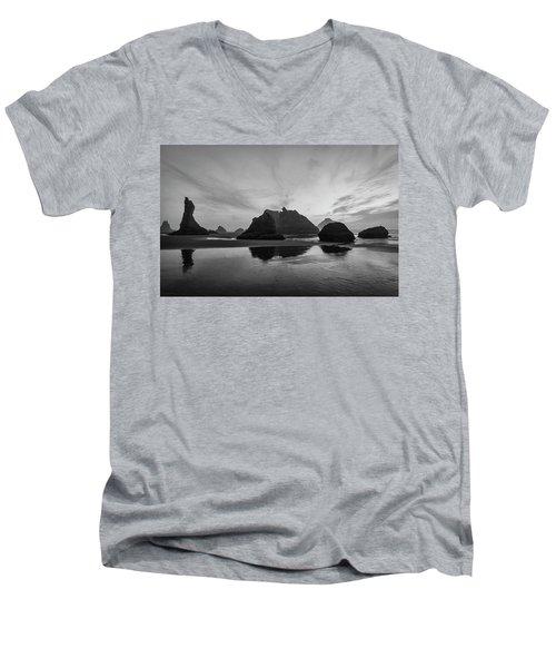 Bandon Pillars Men's V-Neck T-Shirt