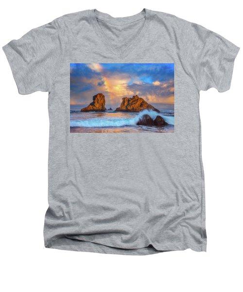 Bandon Rainbow Men's V-Neck T-Shirt by Darren White