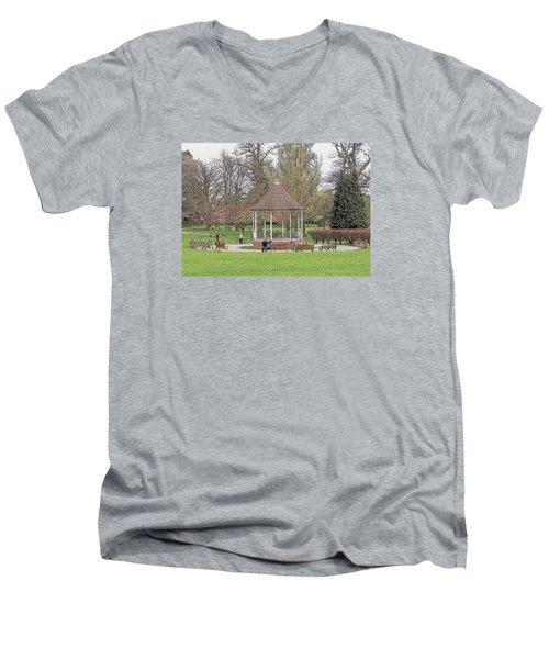 Bandstand Games Men's V-Neck T-Shirt by Paul Gulliver
