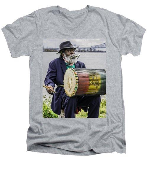 Bang That Drum Men's V-Neck T-Shirt