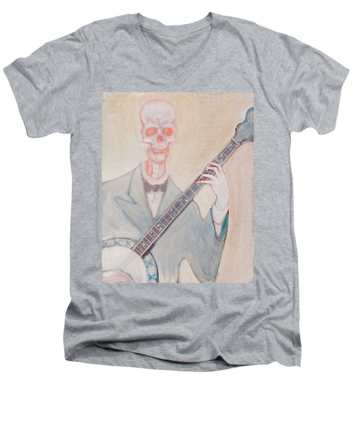 Banjo Bones Men's V-Neck T-Shirt
