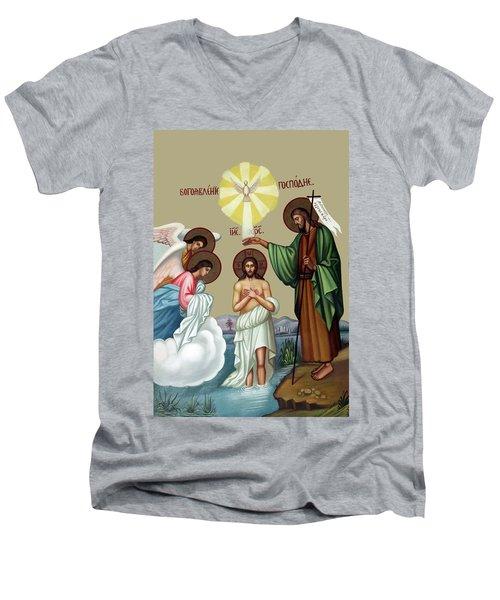 Baptism Men's V-Neck T-Shirt by Munir Alawi