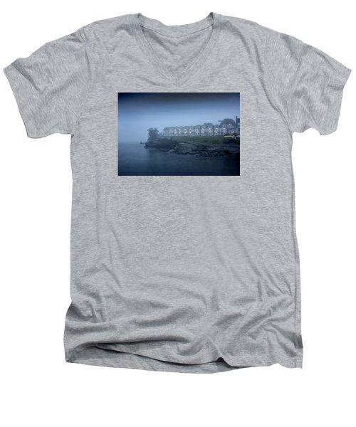 Bar Harbor Inn - Stormy Night Men's V-Neck T-Shirt by Brendan Reals