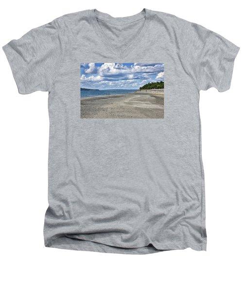 Bar Harbor - Land Bridge To Bar Island - Maine Men's V-Neck T-Shirt by Brendan Reals