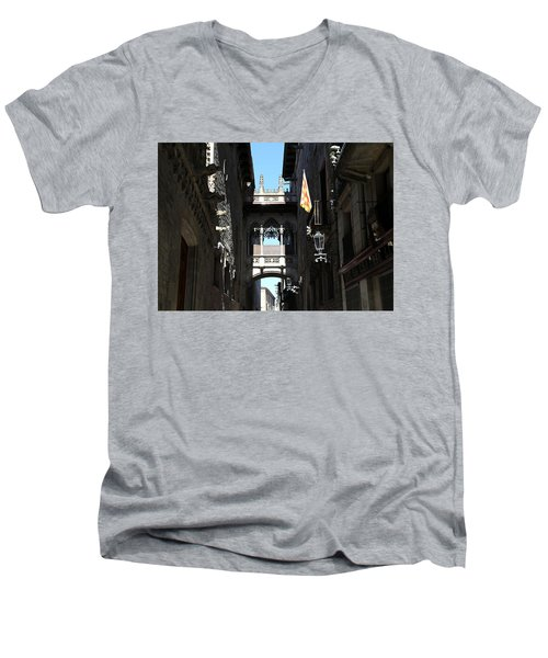 Men's V-Neck T-Shirt featuring the photograph Barcelona 1 by Andrew Fare