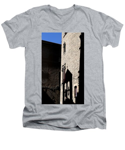 Men's V-Neck T-Shirt featuring the photograph Barcelona 2 by Andrew Fare