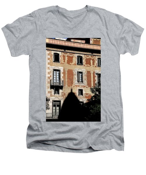 Men's V-Neck T-Shirt featuring the photograph Barcelona 3 by Andrew Fare