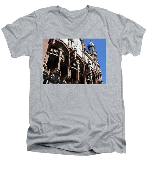 Men's V-Neck T-Shirt featuring the photograph Barcelona 4 by Andrew Fare