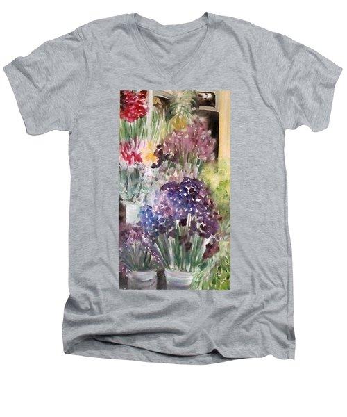 Barcelona Flower Mart Men's V-Neck T-Shirt