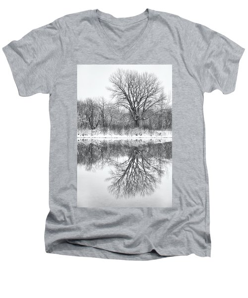 Men's V-Neck T-Shirt featuring the photograph Bare Trees by Darren White