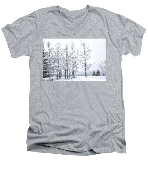 Bare Trees In Winter Men's V-Neck T-Shirt