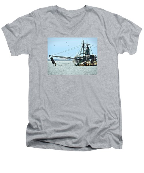 Barely Makin' Way Men's V-Neck T-Shirt by Laura Ragland