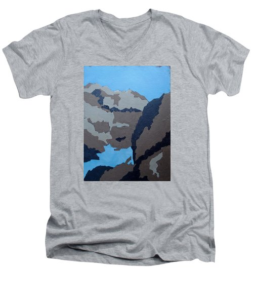 Barker Dam Abstract Men's V-Neck T-Shirt by Richard Willson