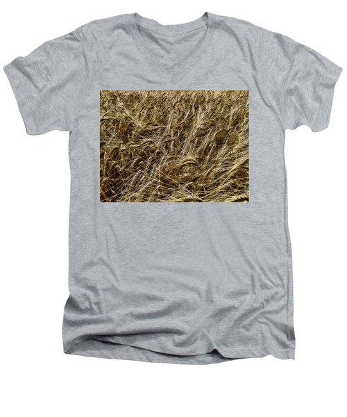 Men's V-Neck T-Shirt featuring the photograph Barley by RKAB Works