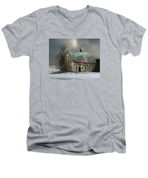 Barn And Sundog Men's V-Neck T-Shirt by Kathy M Krause