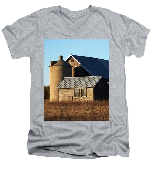 Barn At 57 And Q Men's V-Neck T-Shirt