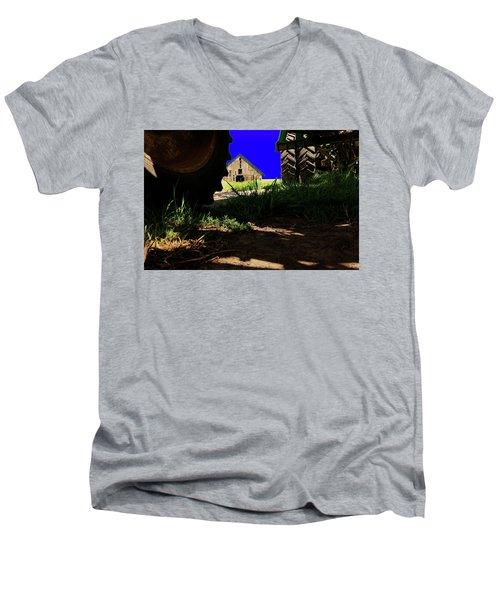 Barn From Under The Equipment Men's V-Neck T-Shirt