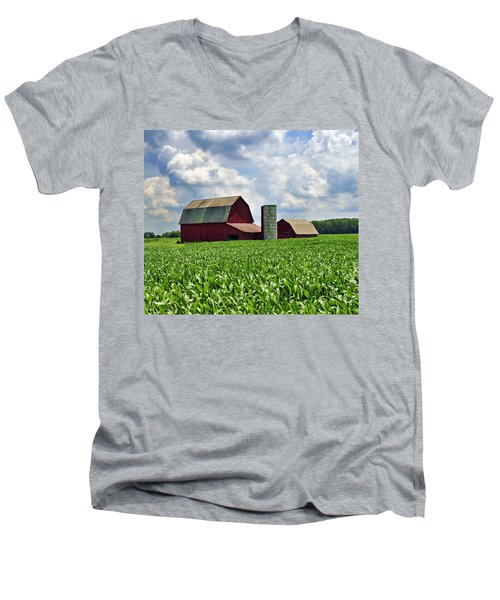 Barn In The Corn Men's V-Neck T-Shirt