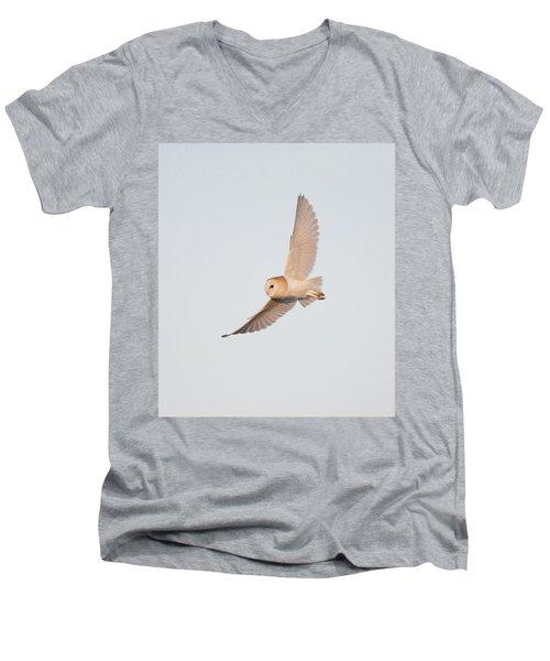 Barn Owl Hunting Men's V-Neck T-Shirt