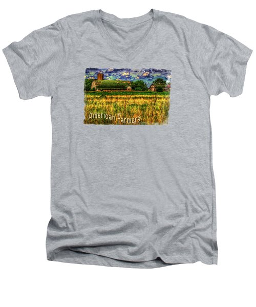 Barn With Green Roof Men's V-Neck T-Shirt