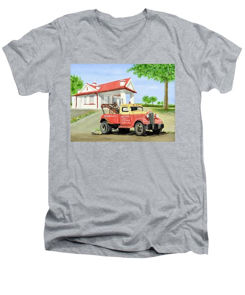 Barnett Garage Men's V-Neck T-Shirt