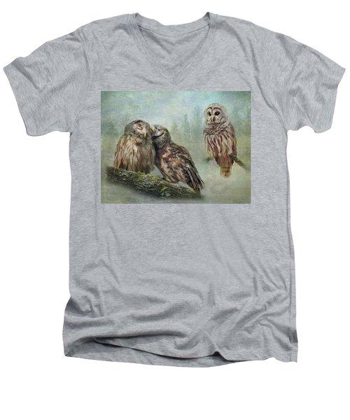 Barred Owls - Steal A Kiss Men's V-Neck T-Shirt