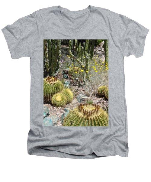 Barrels And Barrels Of Cactus Men's V-Neck T-Shirt