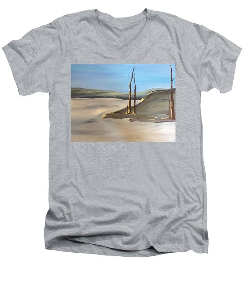 Barren Men's V-Neck T-Shirt by Pat Purdy