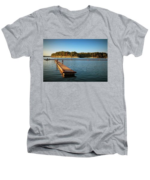 Barren River Lake Dock Men's V-Neck T-Shirt