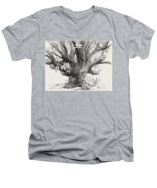 Barringtonia Tree Men's V-Neck T-Shirt