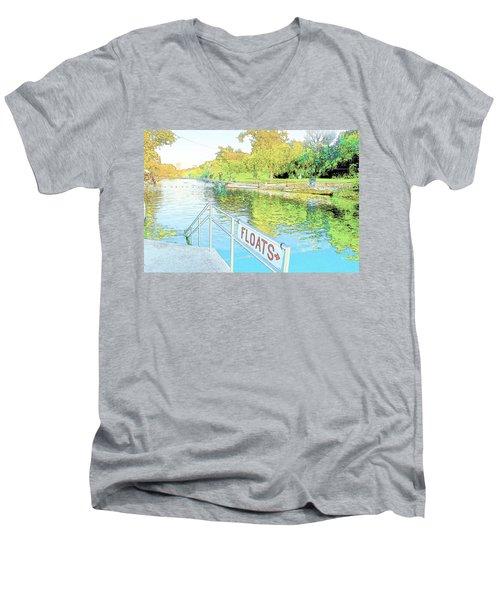 Barton Springs Sketch Men's V-Neck T-Shirt