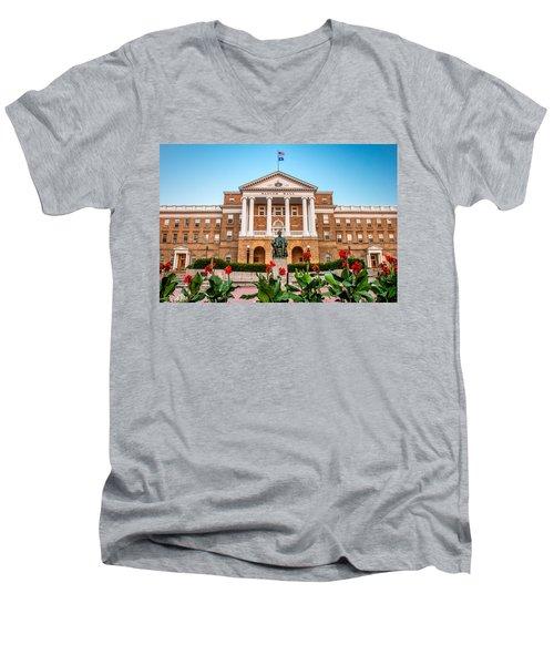 Bascom Hall Men's V-Neck T-Shirt